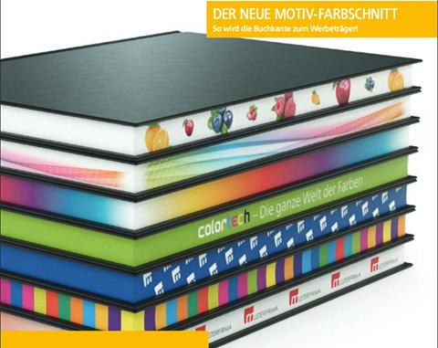 Buchkanten mit Farbverläufen, Motiven oder Logo-Druck